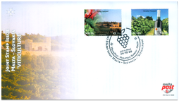 FDC - Joint Issue with Malta: Spoločné vydanie s Maltou: Viticulture in Malta