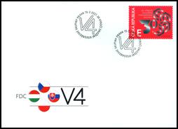FDC České vydanie: 30. výročie založenia Vyšehradskej skupiny