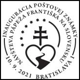 Inaugurácie poštovej známky Návšteva pápeža Františka na Slovensku